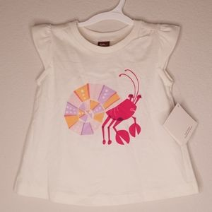 NWT Tea Collection Crab Flutter Sleeve T-shirt